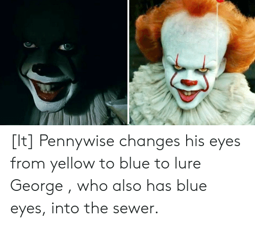 IT Yellow Eyes Pennywise