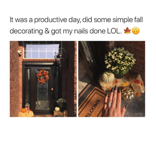 Lol Memes And Nails It Was A Productive Day D Decorating
