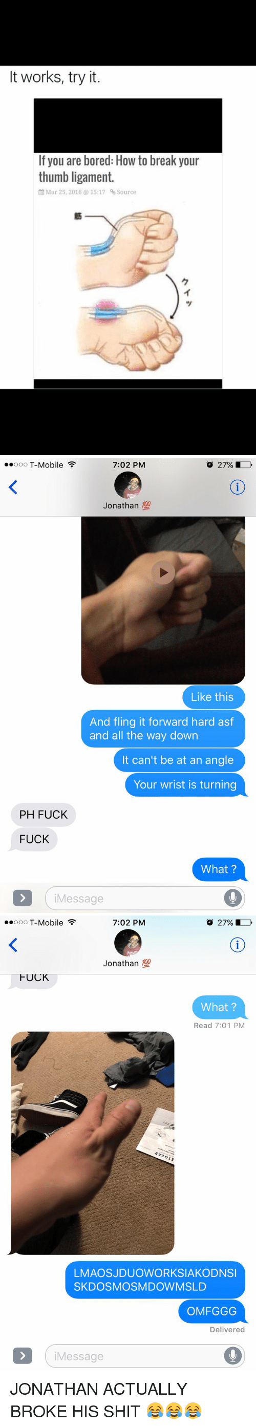 How To Break Your Thumb Ligament