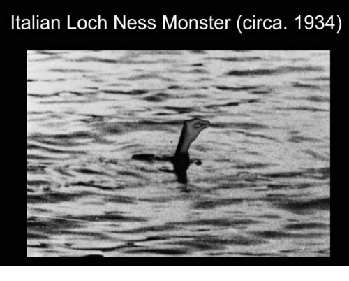 Loch Ness Monster, Monster, and Ness: Italian Loch Ness Monster (circa. 1934)