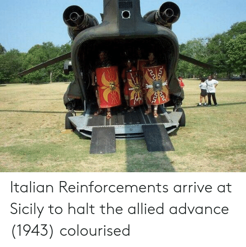 Sicily, Italian, and Halt: Italian Reinforcements arrive at Sicily to halt the allied advance (1943) colourised