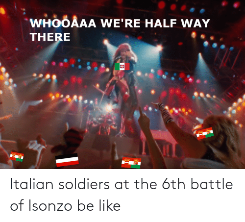Be Like, Soldiers, and History: Italian soldiers at the 6th battle of Isonzo be like