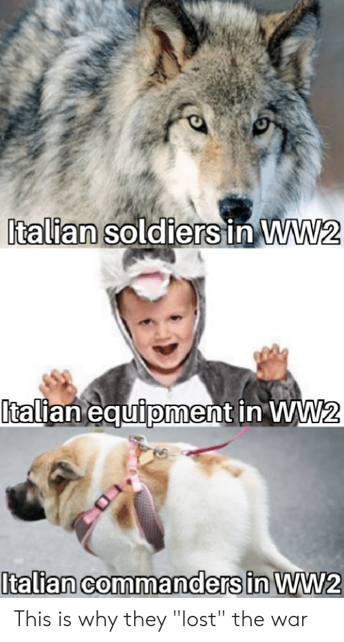 """Soldiers, Lost, and History: Italian soldiers in WW2  talian equiioment in WW  0 This is why they """"lost"""" the war"""