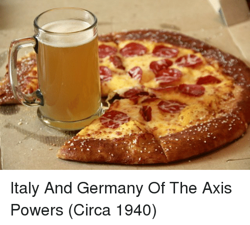 Germany, Italy, and Powers: Italy And Germany Of The Axis Powers (Circa 1940)