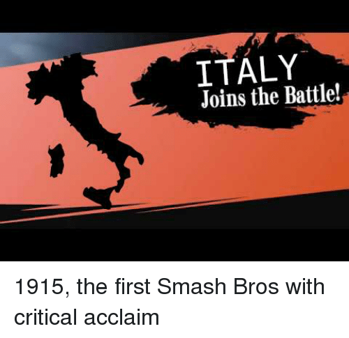 Italy Joins The Battle Smashing Meme On Me Me