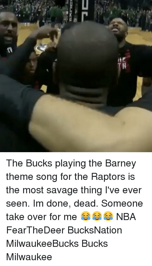 Ite the Bucks Playing the Barney Theme Song for the Raptors