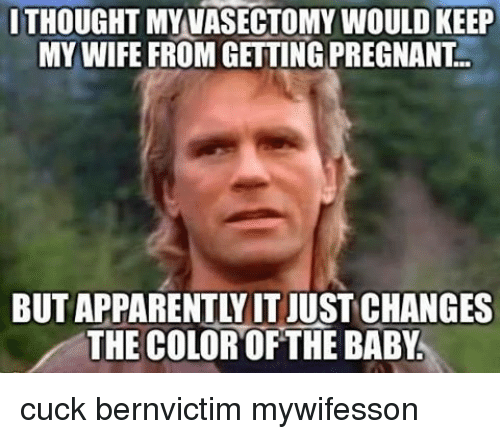 ithoughtmy vasectomy would keep my wife from getting pregnant the 19468672 ithoughtmy vasectomy would keep my wife from getting pregnant the