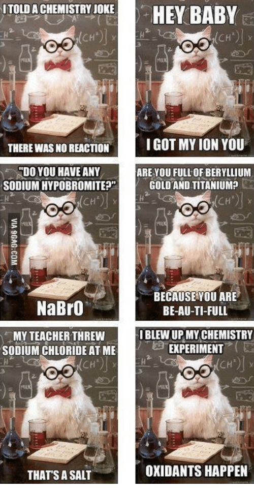 salt chemistry and titanium itoldachemistry joke hey baby ch there was no - Periodic Table Joke Au
