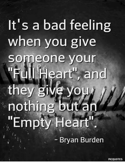 empty feeling in heart
