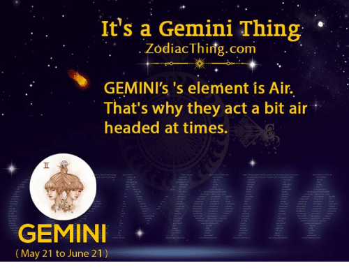What element are geminis
