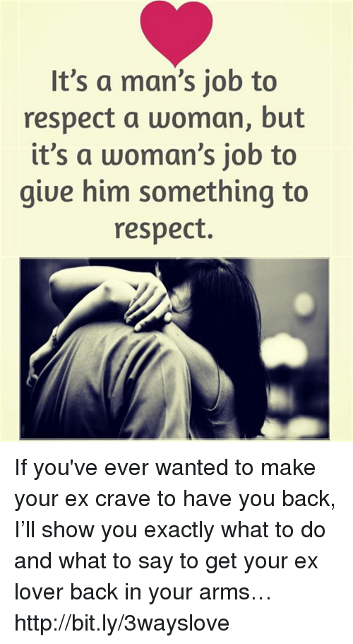 how to show a man you respect him