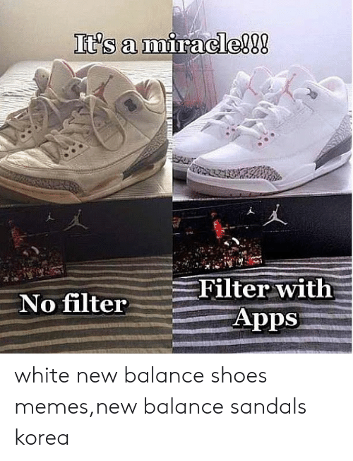 Apps No Filter White New Balance Shoes