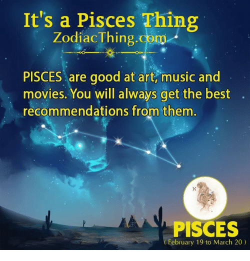 It's a Pisces Thing Zodiac Thingcom PISCES Are Good at Art