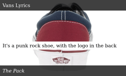 c3f019a89fcd73 It s a Punk Rock Shoe With the Logo in the Back