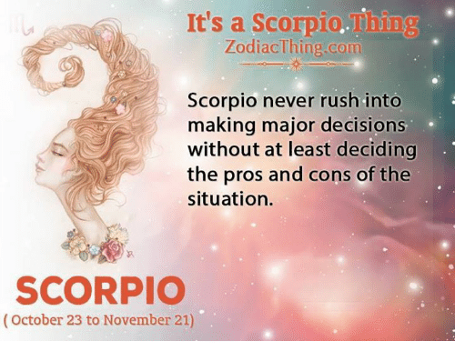 pros and cons of scorpio