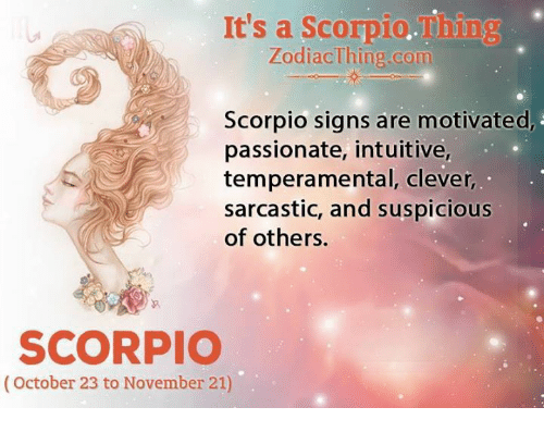 Scorpios intuition