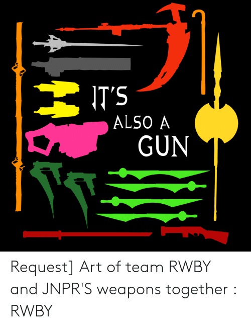 IT'S ALSO a GUN Request Art of Team RWBY and JNPR'S Weapons
