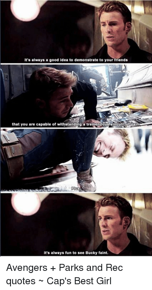 Best Avengers Quotes It's Always a Good Idea to Demonstrate to Your Friends That You  Best Avengers Quotes