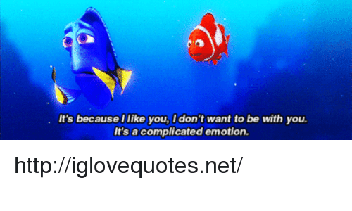 Http, Net, and You: It's becauseIlike you, I don't want to be with you  It's a complicated emotion http://iglovequotes.net/