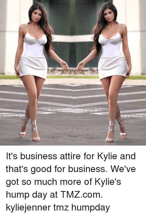 Hump Day, Memes, and Business: It's business attire for Kylie and that's good for business. We've got so much more of Kylie's hump day at TMZ.com. kyliejenner tmz humpday