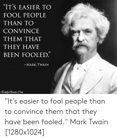 Quote By Mark Twain Cotton Wine Bottle Gift Stamp Press Its easier to fool people than to convince them that they have been fooled BL00020023 Travel Bag