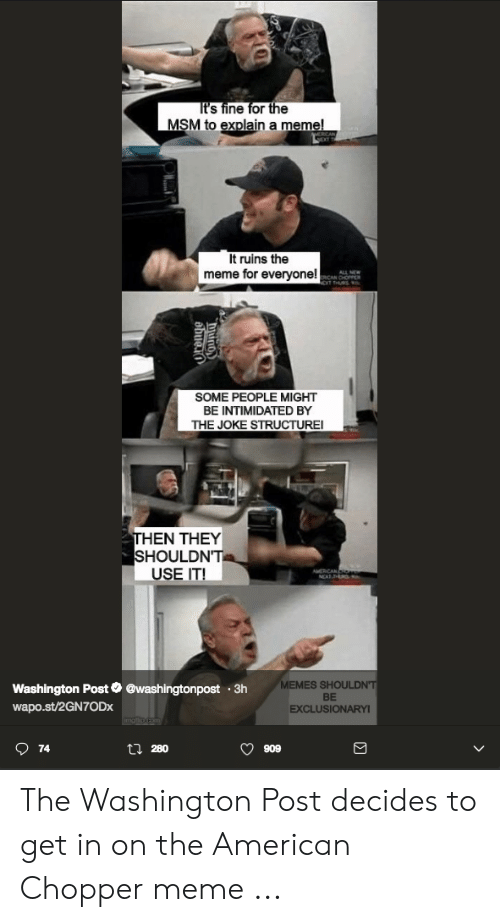 It's Fine for the MSM to Explain a Meme! MERICAN It Ruins