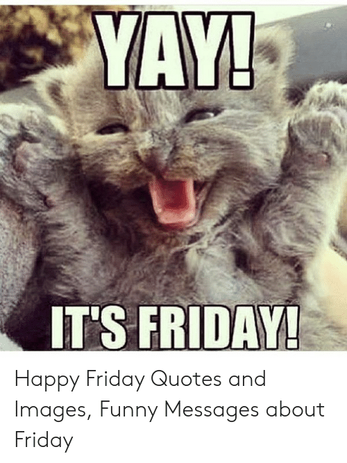 ITS FRIDAY! Happy Friday Quotes and Images Funny Messages ...