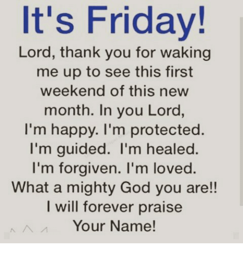 thank you god for the weekend