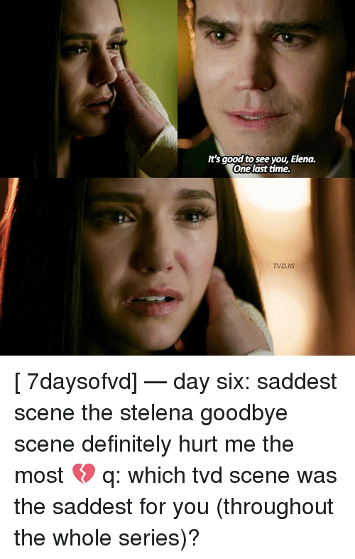 It's Good to See You Elena One Last Time TVDIG 7daysofvd