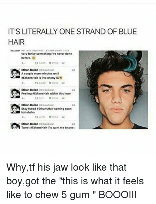 its literally one strand of blue hair very funky something 18025130 ✅ 25 best memes about blue hair blue hair memes