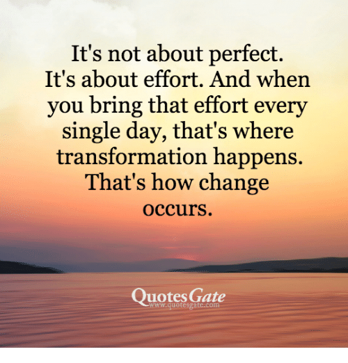 It's Not About Perfect It's About Effort and When You ...