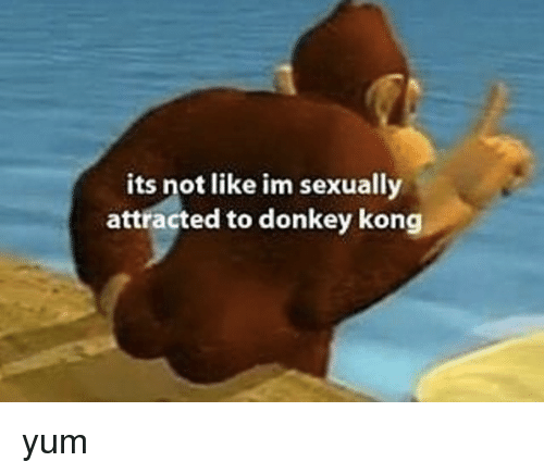 Its Not Like Im Sexually Attracted To Donkey Kong Yum Donkey Meme