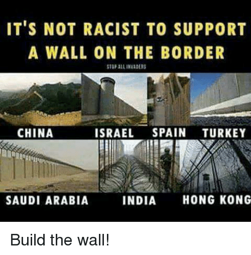 its not racist to support a wall on the border 13420503 it's not racist to support a wall on the border stopalinaders