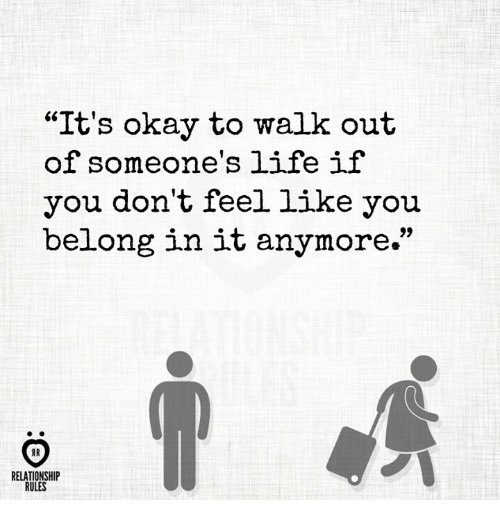 when to walk out of a relationship