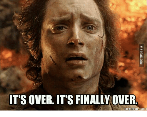Over It, Overeating-Meme, and Finals Over: IT'S OVER. ITS FINALLY OVER  MEMEFUL.COM