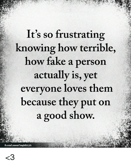 How to tell a fake person