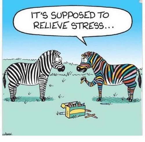 Funny Meme About Stress : It s supposed to relieve stress meme on me
