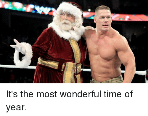 Time, Wonderful, and  Year: It's the most wonderful time of year.