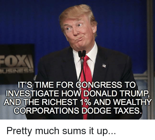 Trump Tax How Much Will I Save: IT'S TIME FOR CONGRESS TO INVESTIGATE HOW DONALD TRUMP AND
