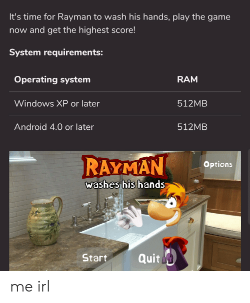 It's Time for Rayman to Wash His Hands Play the Game Now and