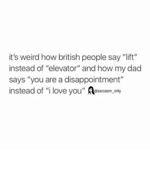 How do you say i love you in british