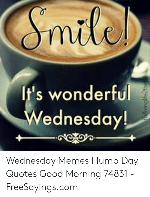 It\'s Wonderful Wednesday! Wednesday Memes Hump Day Quotes ...