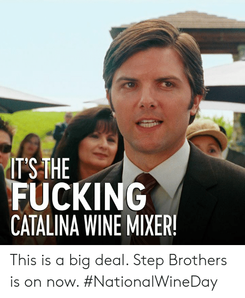 ITSTHE FUCKING CATALINA WINE MIXER This Is a Big Deal Step ...