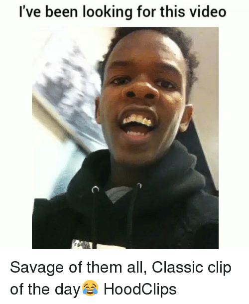 Funny, Savage, and Video: I've been looking for this video Savage of them all, Classic clip of the day😂 HoodClips