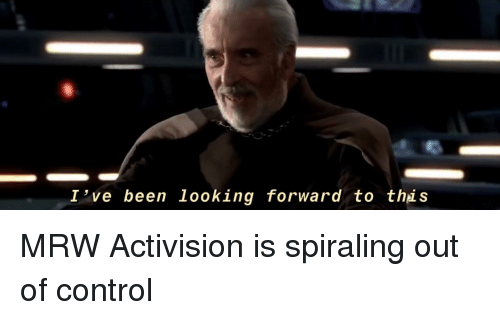 Mrw, Control, and Been: I've been looking forward to thi.s
