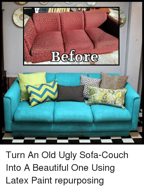 IVE Before Turn an Old Ugly Sofa-Couch Into a Beautiful One ...