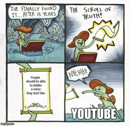 youtube.com, Video, and Truth: IVE FINALLY FOUND  IT... AFTER 15 YEARS  THE SCROLL OF  TRUTH!  NEHHH  People  should be able  to dislike  a video  they dont like  YOUTUBE