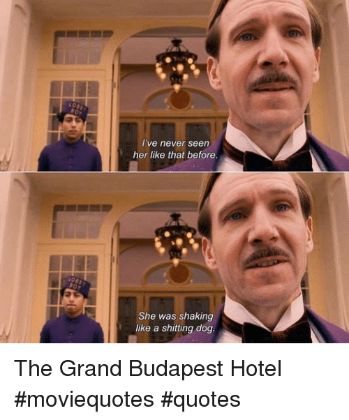 I've Never Seen Her Like That Before She Was Shaking Like A Shitting Stunning Grand Budapest Hotel Quotes