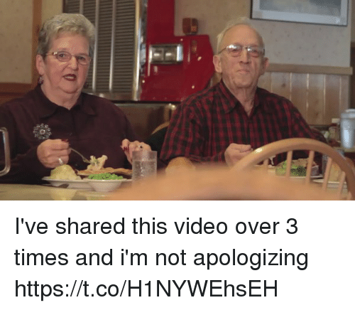 Funny, Video, and Times: I've shared this video over 3 times and i'm not apologizing https://t.co/H1NYWEhsEH