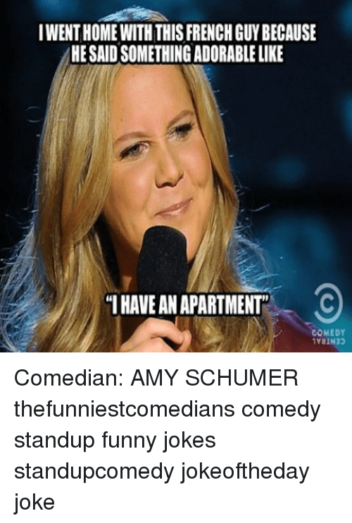 Amy Schumer, Funny Jokes, And Memes: IWENTHOME WITH THIS FRENCH GUYBECAUSE  HESAIDSOMETHINGADORABLE LIKE